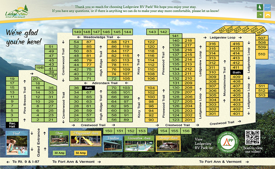 Lake George New York Map.Map Of Ledgeview Rv Park Campsites In Lake George Ny