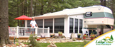 Seasonal Residents enjoy special Lake George Camping Rates